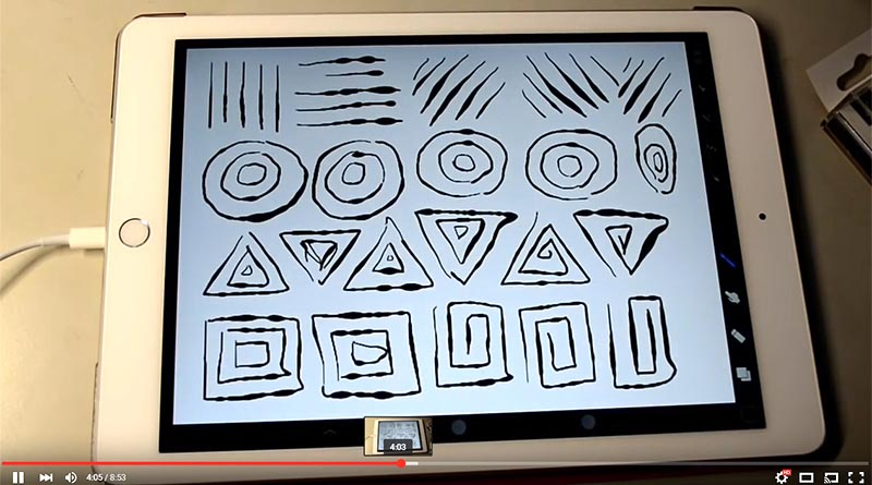 ProCreate and ADONIT JOT TOUCH with PIXELPOINT in iPad Air 2